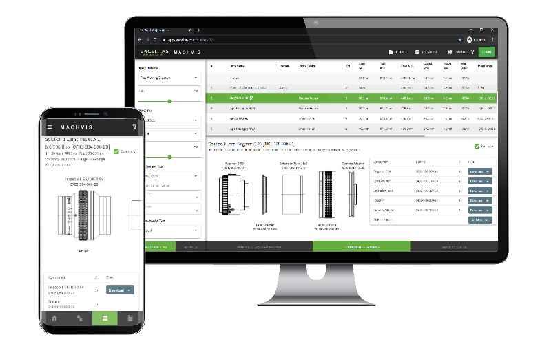 Die MachVis-App erleichtert die Auswahl und Entwicklung von Industrieobjektiven und Optiksystemen für Inspektion und Qualitätskontrolle