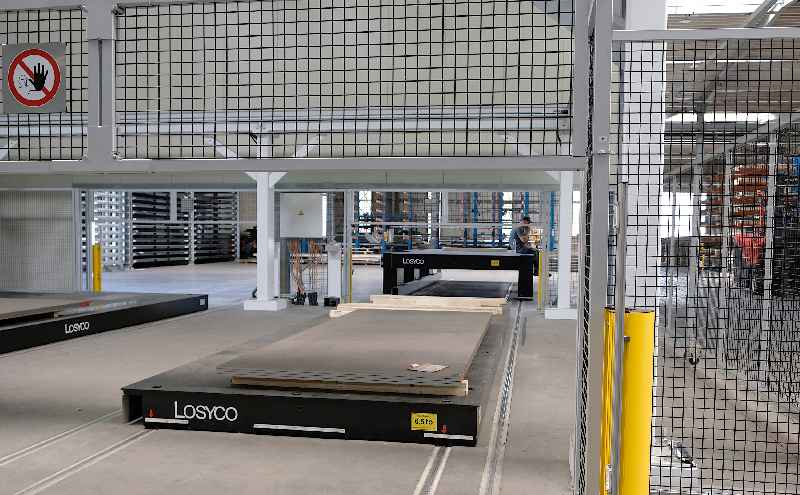 The new two-story trolley solution for feeding oversized sheet metal panels into a laser cutting cell