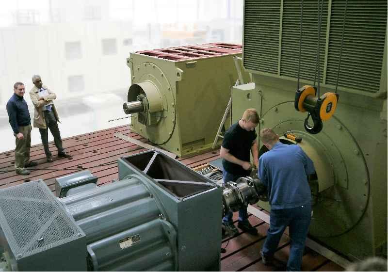 Menzel Elektromotoren betreibt zwei eigene Lastprüffelder in Berlin in einer speziell ausgebauten hochmodernen Testhalle
