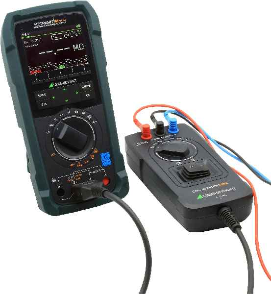 The portable METRAHIT IM XTRA multimeter and coil adapter enable interturn short-circuit detection in electric machines directly in the field[image versions A and B]
