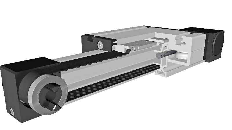 Hohe Präzision bei reduzierten Laufgeräuschen: Die mit Noppenriemenantrieb ausgestatteten Positioniersysteme der Baureihe MLN von BAHR Modultechnik