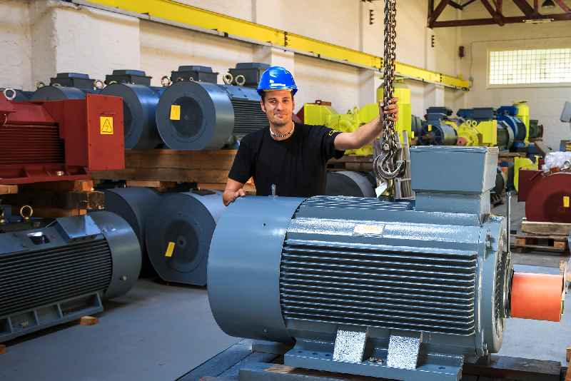 Berlin-based motor builder Menzel has a huge warehouse with brand-new low, medium, and high-voltage motors up to 15 MW
