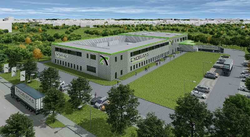Darstellung der neuen Qioptiq-Produktionshalle im Science Park
