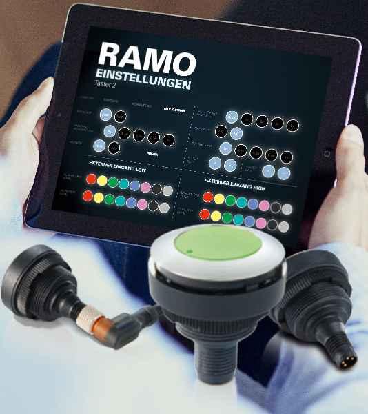 Als eine Messeneuheit stellt RAFI seinen innovativen Armrest mit multifunktionalem Joystick vor