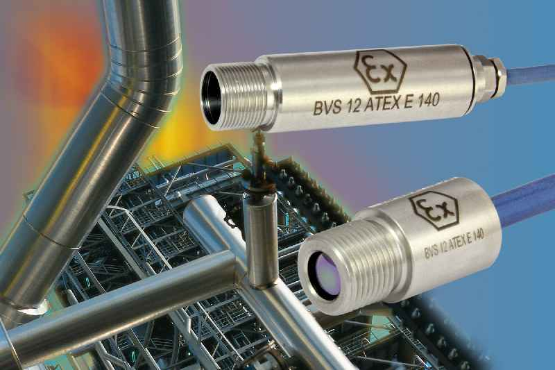 Noncontact infrared temperature measurement solutions for the process industry include Ex i sensors suitable for network integration