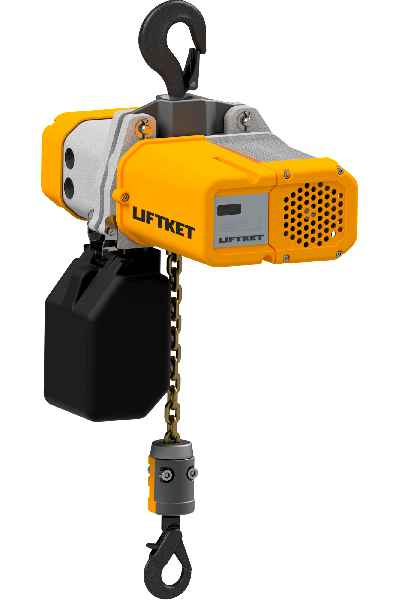 The new electric chain hoist enables continuous speed adjustment up to 36 m/min and has a display for operating and maintenance status indicators