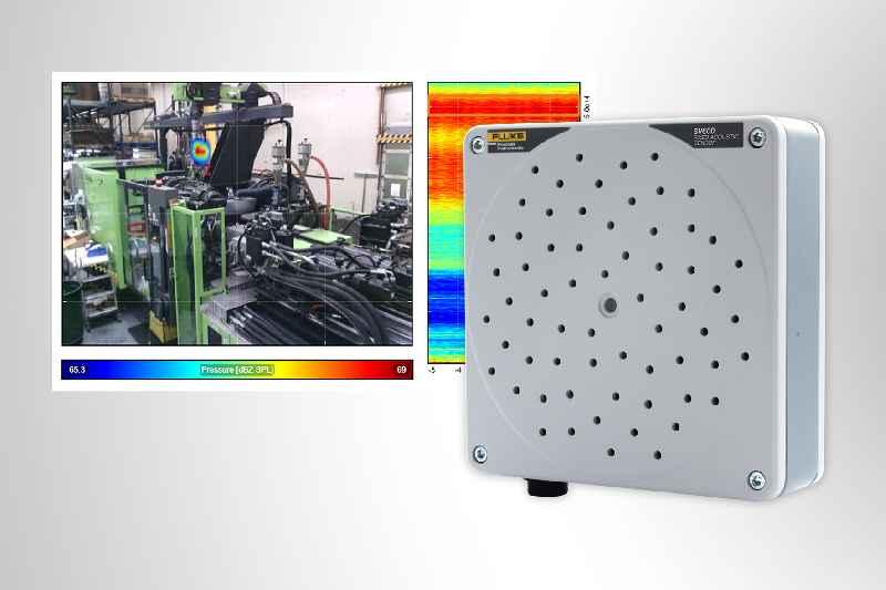 Die Akustikkamera SV600 erfasst und lokalisiert Gaslecks sowie mechanische Fehler und Schwachstellen