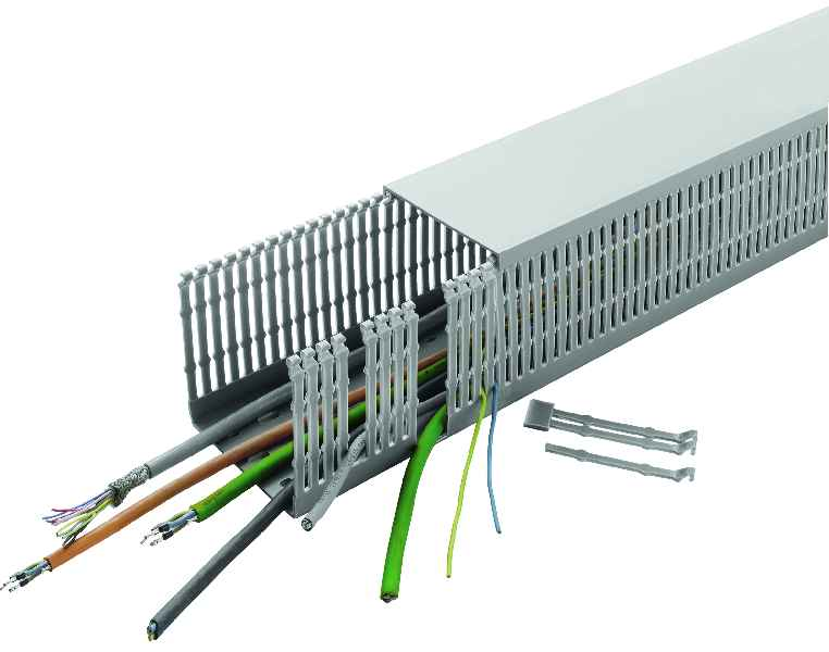 Excellent dimensional stability, simple customization: UL- and VDE-certified cabling ducts from CONTA-CLIP