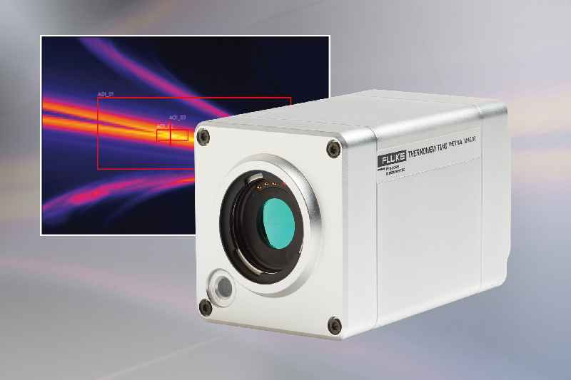 The thermal and visible light camera enables 24/7 process monitoring with automatic alarms for overheating or defined irregularities