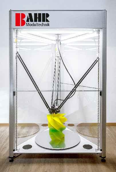 Mit dem neuen 3D-Drucker bietet BAHR eine sehr wirtschaftliche, flexibel adaptierbare Alternative für großformatige Druckaufgaben an