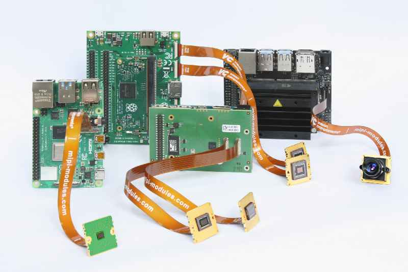 MIPI camera modules that can be combined with a wide variety of single-board computers enable highly flexible configuration of embedded vision applications