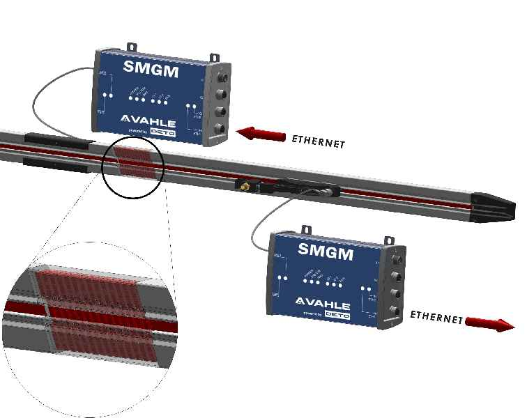 The SMGM data communication system for mobile applications can be integrated into the VAHLE conductor rail system.