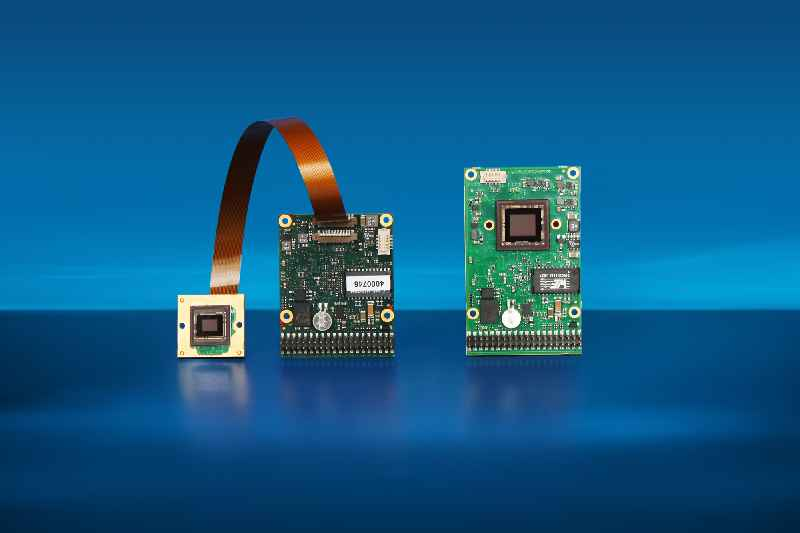 New embedded vision systems with fast medium-res and high-res CMOS image sensors are available as compact board cameras for OEM projects