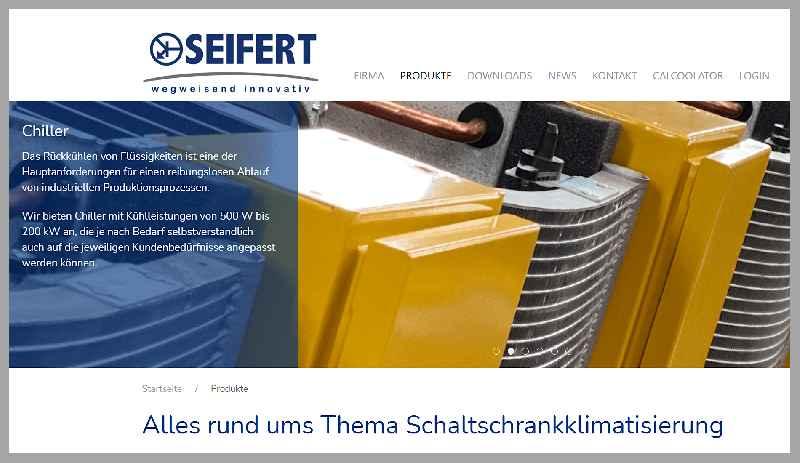 Seifert Systems, Spezialist für die Schaltschrank- und Anlagenklimatisierung, hat seine neue Website unter www.seifertsystems.com online gestellt