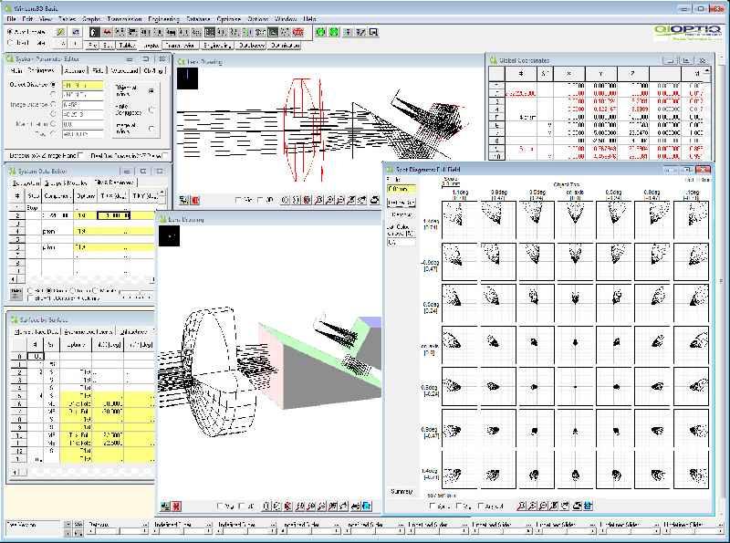 Schon die kostenlose Basic-Version ermöglicht die professionelle Simulation und Analyse optischer Systeme