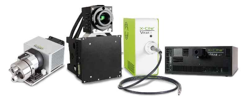Excelitas konfiguriert und fertigt Xenon-, LED- und Laserlichtquellen individuell für Endoskop-Entwickler (abgebildet: Auswahl aus Produktfamilie X-Cite Vitae)